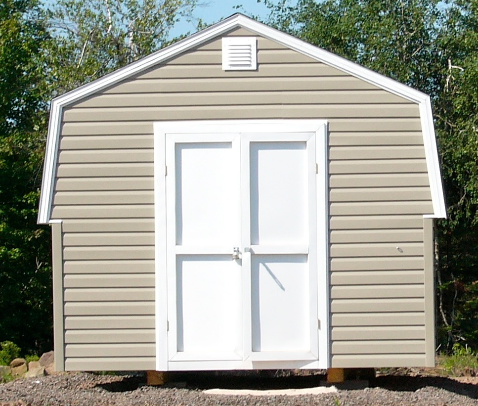 Gambrel peak roof sheds jeramand baby barns storage for Gambrel shed