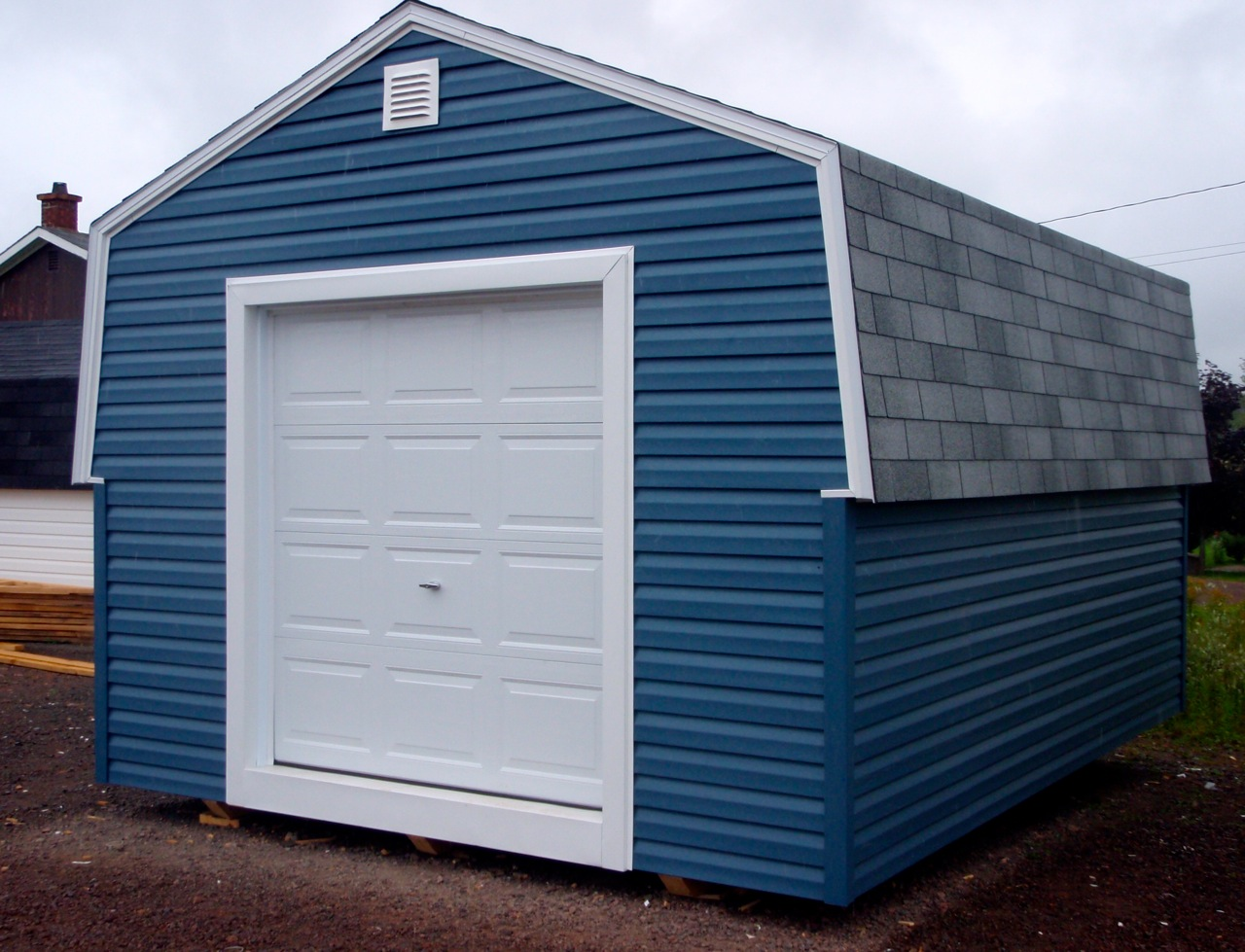 16x24 Storage Building : Building a storage with gambrel loft